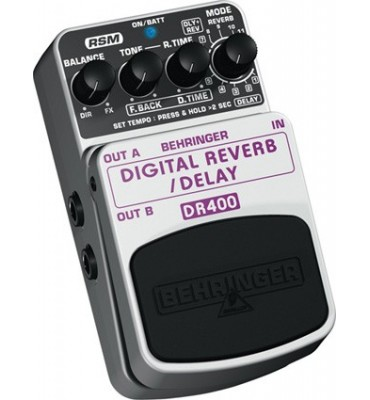 BEHRINGER - DR400 Digital Reverb/Delay Effetto a pedale per chitarra