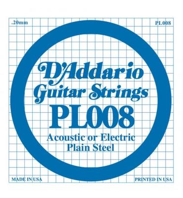 D'Addario PL008 corda singola per chitarra acustica ed elettrica