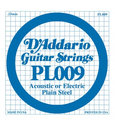 D'Addario PL009 corda singola per chitarra acustica ed elettrica