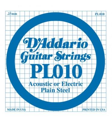 D'Addario PL010 corda singola per chitarra acustica ed elettrica