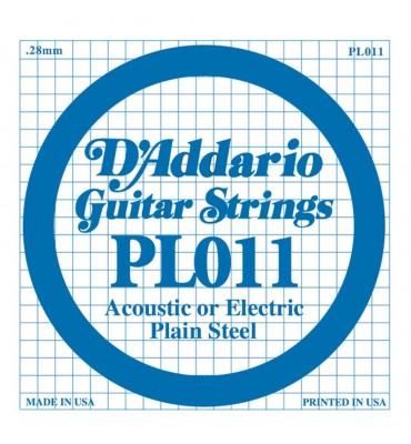 D'Addario PL011 corda singola per chitarra acustica ed elettrica