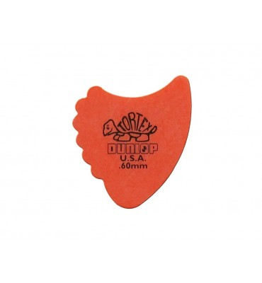 Dunlop 414-R-60/S Tortex Sharkfin Set di plettri per chitarra 12pz