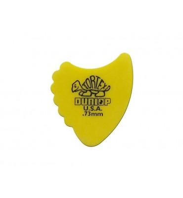 Dunlop 414-R-73/S Tortex Sharkfin Set di plettri per chitarra 12pz