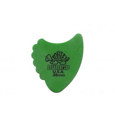 Dunlop 414-R-88/S Tortex Sharkfin Set di plettri per chitarra 12pz