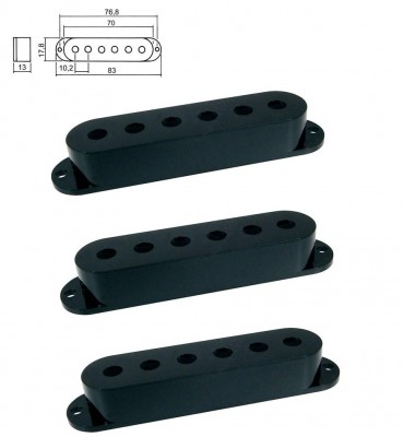 Boston SPC-10-BK Cover per pickup single coil confezione 3pz colore nero