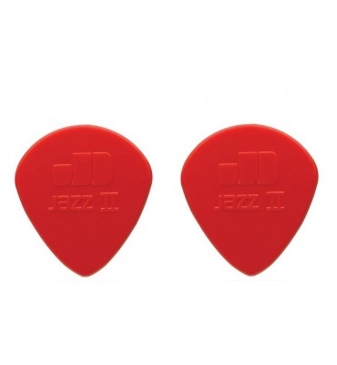 Dunlop 47-R-2N Plettri per chitarra serie Nylon Jazz 2N 1.18mm 2 Pezzi