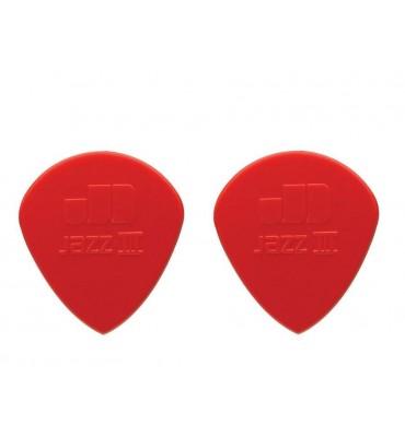 Dunlop 47-R-3N Plettri per chitarra serie Nylon Jazz 3N 1.38mm 2 Pezzi