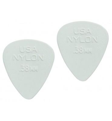 Dunlop 4410-R-38 Plettri per chitarra serie Nylon Standard 0.38mm 2 Pezzi