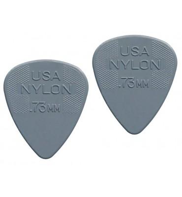 Dunlop 4410-R-73 Plettri per chitarra serie Nylon Standard 0.73mm 2 Pezzi