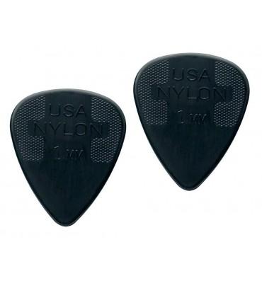 Dunlop 4410-R-100 Plettri per chitarra serie Nylon Standard 1.00mm 2 Pezzi