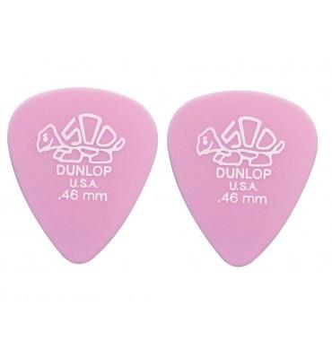 Dunlop 4100-R-46 Plettri per chitarra serie Delrin 0.46mm 2 Pezzi