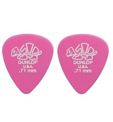 Dunlop 4100-R-71 Plettri per chitarra serie Delrin 0.71mm 2 Pezzi