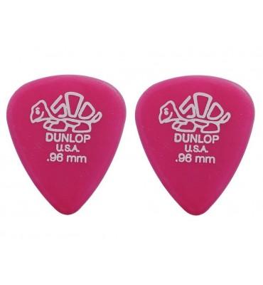 Dunlop 4100-R-96 Plettri per chitarra serie Delrin 0.96mm 2 Pezzi