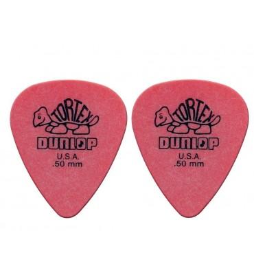 Dunlop 4181-R-50 Plettri per chitarra serie Tortex 0.50mm 2 Pezzi