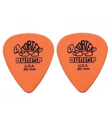 Dunlop 4181-R-60 Plettri per chitarra serie Tortex 0.60mm 2 Pezzi