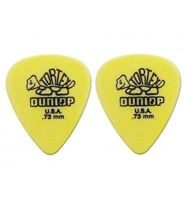 Dunlop 4181-R-73 Plettri per chitarra serie Tortex 0.73mm 2 Pezzi
