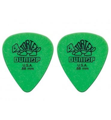 Dunlop 4181-R-88 Plettri per chitarra serie Tortex 0.88mm 2 Pezzi