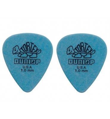 Dunlop 4181-R-100 Plettri per chitarra serie Tortex 1.00mm 2 Pezzi