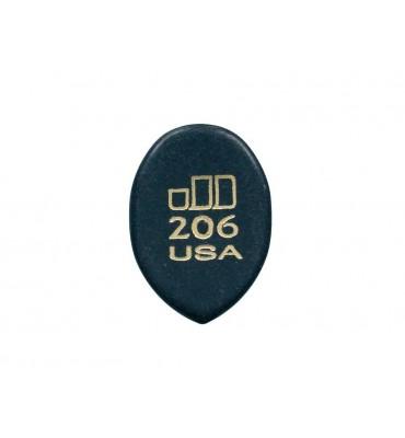 Dunlop 477-R-206 Plettro per chitarra Jazztone 2,00mm punta media 1 Pezzo