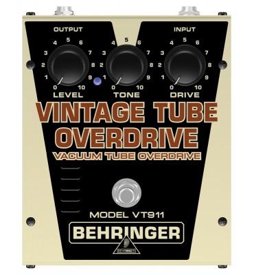 Behringer VT911 Vintage Tube Overdrive valvolare pedale per chitarra elettrica