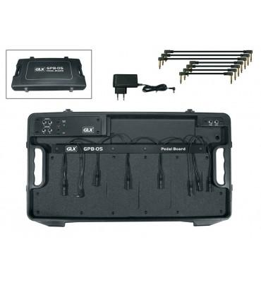 GLX GPB-05-EU Pedal Board valigetta cablata per 5 effetti a pedale per chitarra