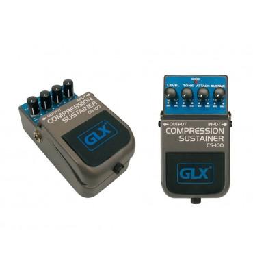 GLX CS-100 Compressor sustainer effetto a pedale per chitarra
