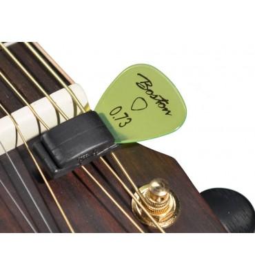 Boston PH-03-BK Portaplettro in gomma per chitarra