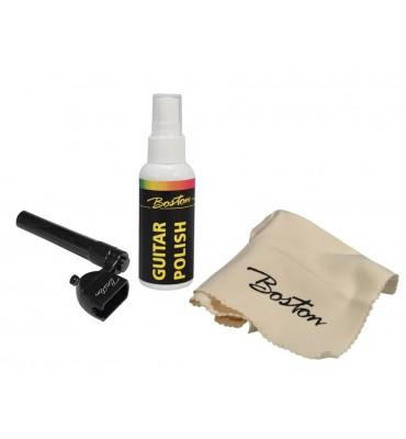 Boston BGM-14 kit manutenzione per chitarra con lucido panno ed avvolgicorde