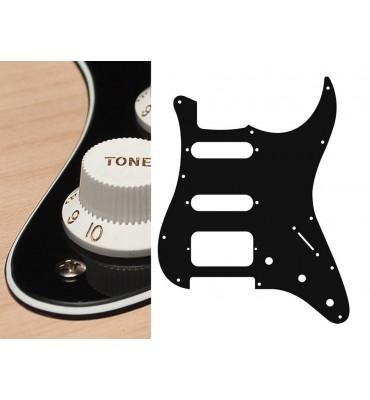 Boston ST-323-B Pickguard Battipenna nero per chitarra tipo Stratocaster SSH