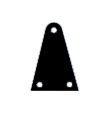 Boston LRC-22-B Cover truss rod 2 strati nero bianco per chitarra e basso