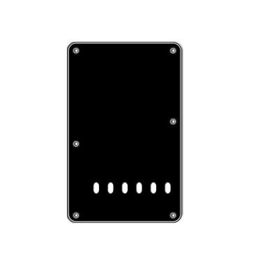 Boston BP-413-B Backplate tremolo piastra coprimolle per chitarra 86x138mm