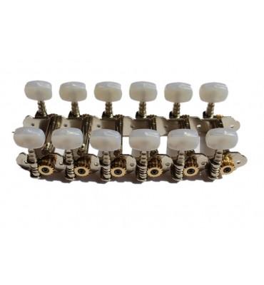 Boston 047-116-P Meccaniche per chitarra 12 corde 116,6mm, pioli perlati