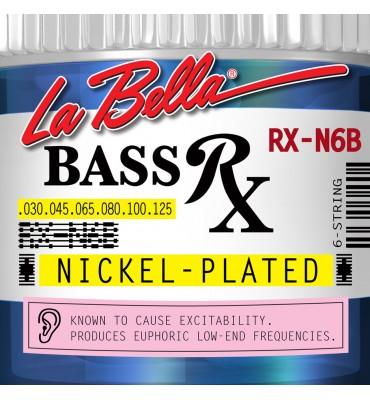 La Bella RX-N6B Muta per basso elettrico 6 corde, 030-125