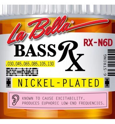 La Bella RX-N6D Muta per basso elettrico 6 corde, 030-130