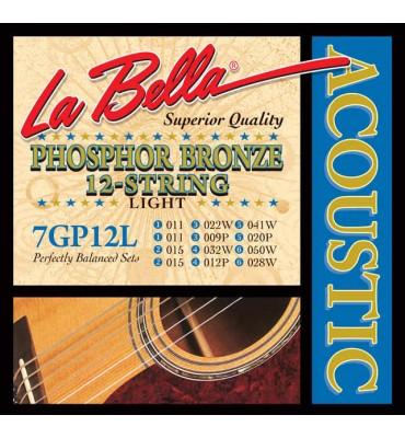 La Bella 7GP-12L Muta per chitarra acustica 12 corde, 011-050