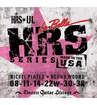 La Bella HRS-UL Muta di corde per chitarra elettrica, 008-038