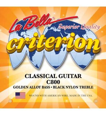 La Bella C800 Muta di corde per chitarra classica, tensione media