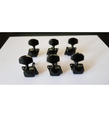 Boston 058-BLR set di 6 meccaniche per chitarra acustica ed elettrica 3L+3R