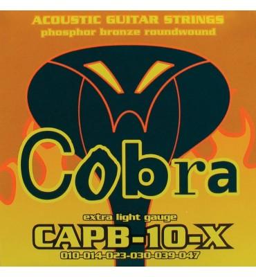 Cobra CAPB-10-X Muta di corde per chitarra acustica 010-047