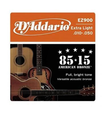D'ADDARIO EZ900 85/15 extra light - 010/050 corde per chitarra acustica
