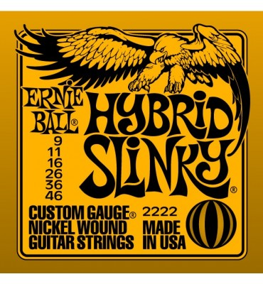 ERNIE BALL Hibrid Slinky 2222 - 009 - 046 Corde per Chitarra Elettrica