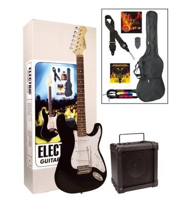 Volcano GP-105-BK pack chitarra elettrica + amplificatore e accessori