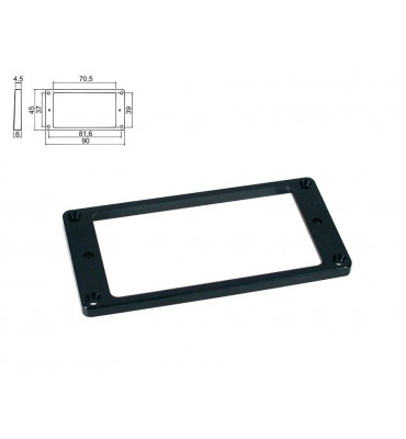 Boston HPF-02-SBK mascherina per pickup humbucker 4,5- 6,0mm colore nero