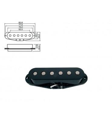 BOSTON - PU-10-BK PICKUP SINGLE COIL STALLION Per Chitarra Elettrica