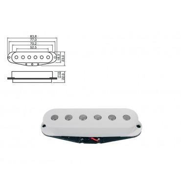 Boston PU-10-WH Pickup single coil per chitarra elettrica modello ST