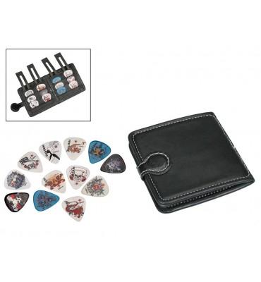 Boston PP-312 set di 12 plettri per chitarra con portafoglio in pvc