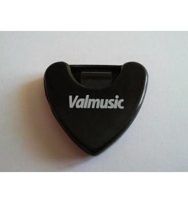 Valmusic A010-BK Portaplettri adesivo per chitarra colore nero