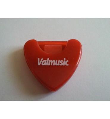 Valmusic A010-RD Portaplettri adesivo per chitarra colore Rosso