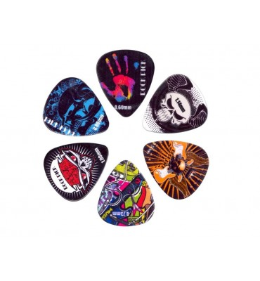 Boston BRP6-MIX rock picks set 6 plettri in celluloide varie misure per chitarra