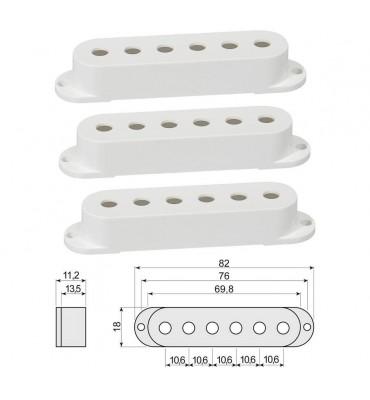 Boston SPC-62-WH Cover per pickup single coil confezione 3 pz colore bianco